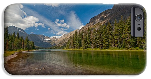 Lake iPhone Cases - Moutain Lake iPhone Case by Sebastian Musial