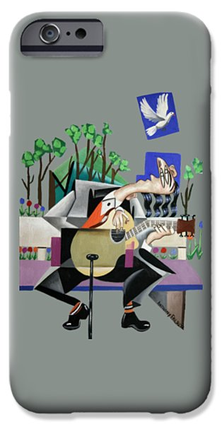Shirt Digital iPhone Cases - Music A Gift From The Holy Spirit iPhone Case by Anthony Falbo
