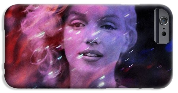 Figure iPhone Cases - My Day With Marilyn Monroe iPhone Case by Richard Ray
