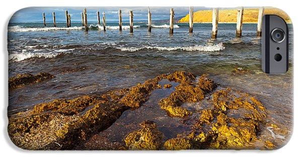 Fleurieu Peninsula iPhone Cases - Myponga Beach Jetty Ruins iPhone Case by Bill  Robinson