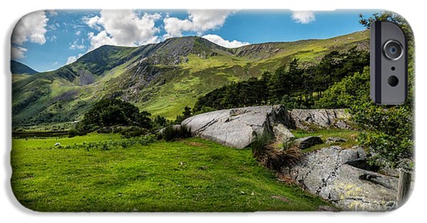 Summer iPhone Cases - Nant Ffrancon Pass  iPhone Case by Adrian Evans