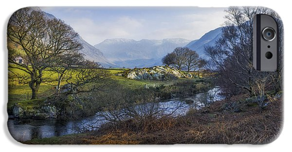 Spring Scenery iPhone Cases - Nant Ffrancon Pass iPhone Case by Ian Mitchell