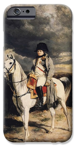 Leader iPhone Cases - Napoleon Bonaparte On Horseback iPhone Case by War Is Hell Store