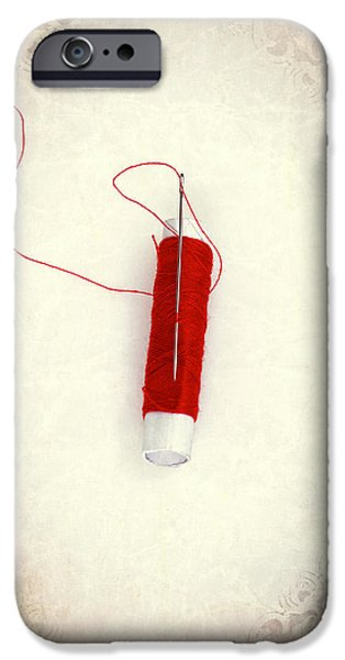 Sew iPhone Cases - Needle And Thread iPhone Case by Joana Kruse