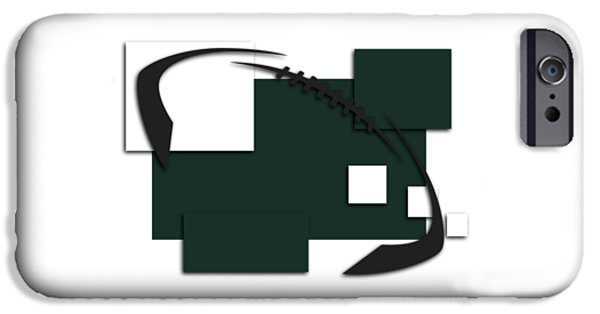 New York Jets iPhone Cases - New York Jets Abstract Shirt iPhone Case by Joe Hamilton