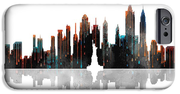 City Scape iPhone Cases - New York New York Skyline iPhone Case by Marlene Watson