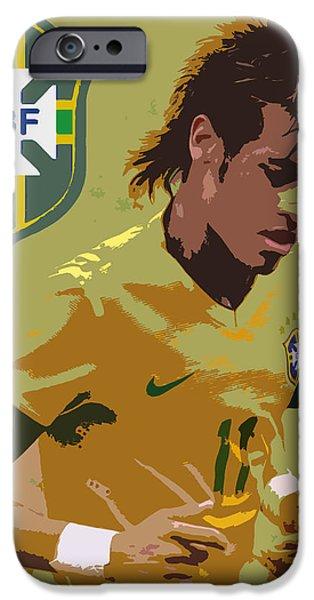 Neymar Art Deco iPhone Case by Lee Dos Santos