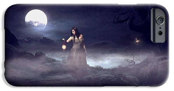 Business Digital Art iPhone Cases - Night Search 2 H a iPhone Case by Gert J Rheeders