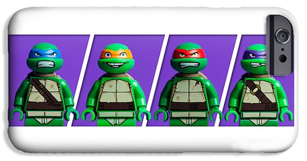 Figures iPhone Cases - Ninja Turtles iPhone Case by Samuel Whitton