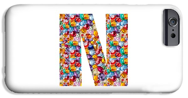 Christmas Greeting Jewelry iPhone Cases - NNN nn n  Alpha Art on Shirts alphabets initials   shirts jersey t-shirts v-neck by NavinJoshi iPhone Case by Navin Joshi