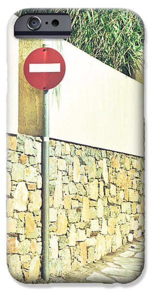 Regulations iPhone Cases - No entry sign iPhone Case by Tom Gowanlock