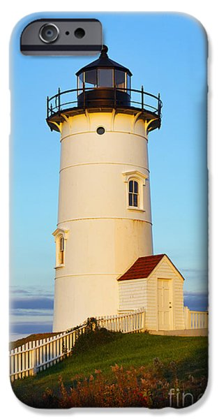 Recently Sold -  - New England Lighthouse iPhone Cases - Nobska Point Light iPhone Case by John Greim