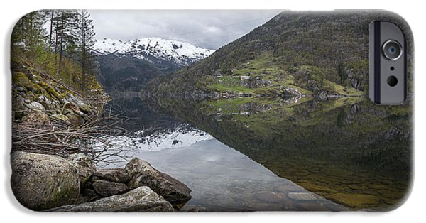 Norway iPhone Cases - Norwegian Landscape iPhone Case by Fred Gramoso