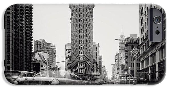 Nyc Photographs iPhone Cases - NYC Flat Iron iPhone Case by Nina Papiorek