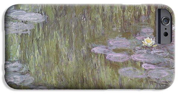 Weeping iPhone Cases - Nympheas at Giverny iPhone Case by Claude Monet
