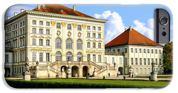 Buildings iPhone Cases - Nymphenburg Palace iPhone Case by Anthony Dezenzio