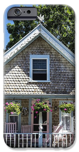 Charming Cottage iPhone Cases - Oak Bluffs Cottage iPhone Case by John Greim