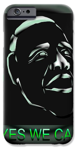 President iPhone Cases - Obama 17 iPhone Case by Dalon Ryan