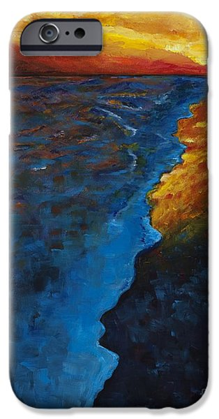 Abstract Seascape iPhone Cases - Ocean Sunset iPhone Case by Frances Marino