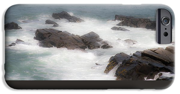 Ledge iPhone Cases - Ocean Waves iPhone Case by Ralph Staples
