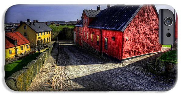 Stock Images iPhone Cases - Old buildings in HDR iPhone Case by Toppart Sweden