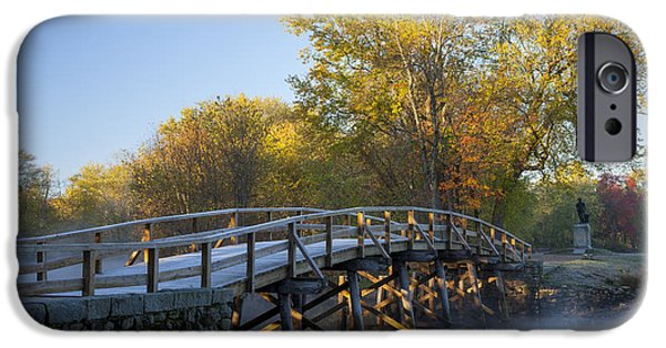 Concord Massachusetts iPhone Cases - Old North Bridge iPhone Case by Brian Jannsen