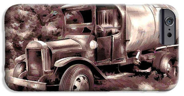 Delivery Truck iPhone Cases - Old Timer iPhone Case by Arnie Goldstein