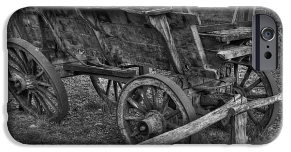 Wooden Wagons iPhone Cases - Old Wagon iPhone Case by Skitterphoto