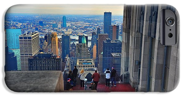 Empire State iPhone Cases - On A High iPhone Case by Tony Ambrosio