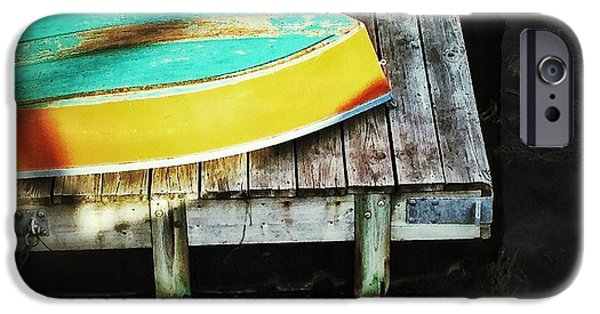 Row Boat Digital iPhone Cases - On deck iPhone Case by Olivier Calas