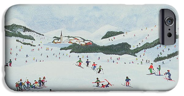 Winter iPhone Cases - On The Slopes iPhone Case by Judy Joel