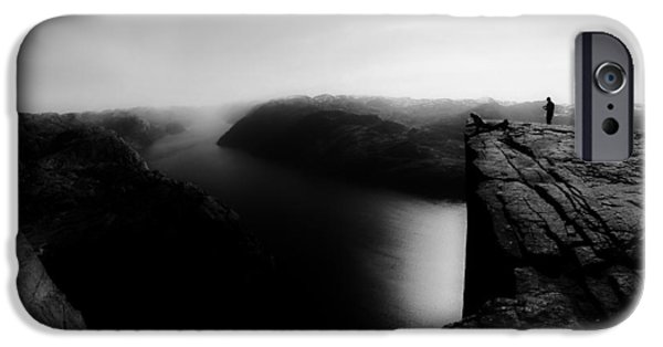 Norway iPhone Cases - Overlooking Norway  iPhone Case by Zak Suhar