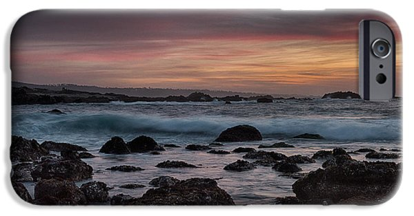 Ocean Sunset iPhone Cases - Pacific Grove Sunset iPhone Case by Bill Roberts