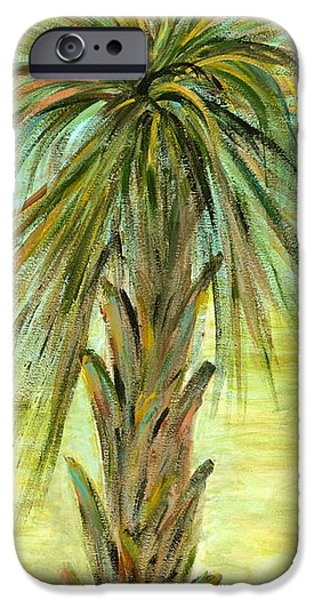Palm Tree Greeting Cards iPhone Cases - Palm Tree iPhone Case by Nadine Rippelmeyer