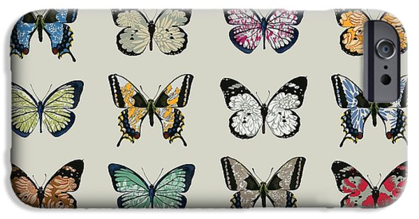 Insects iPhone Cases - Papillon iPhone Case by Sarah Hough