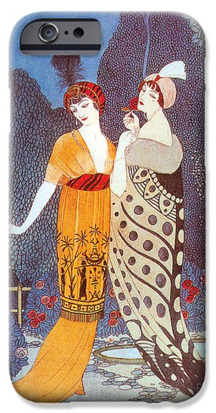 Georges Barbier iPhone Cases - Paquin Dress, George Barbier iPhone Case by Science Source