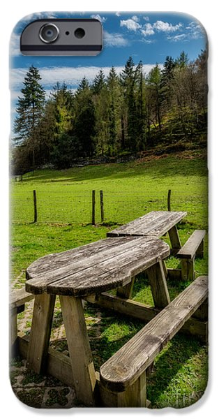 Park Benches iPhone Cases - Park Bench iPhone Case by Adrian Evans