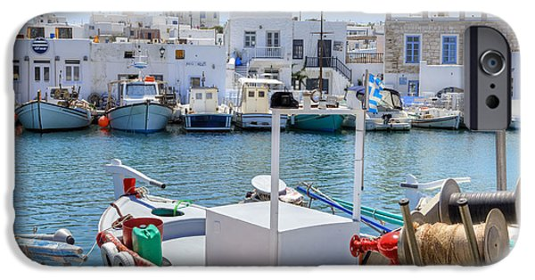 Old City iPhone Cases - Paros - Cyclades - Greece iPhone Case by Joana Kruse