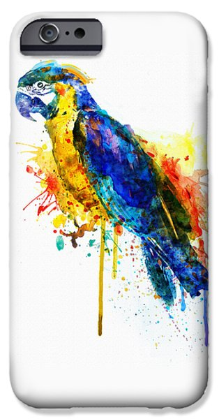 Marian iPhone Cases - Parrot Watercolor  iPhone Case by Marian Voicu