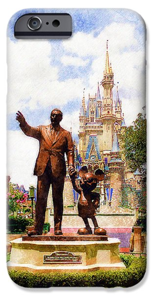 Magic Kingdom iPhone Cases - Partners iPhone Case by Sandy MacGowan