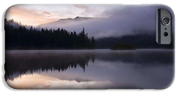 Fog Mist Photographs iPhone Cases - Pastel Dawn iPhone Case by Mike  Dawson