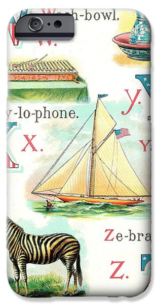 4th July Paintings iPhone Cases - Patriot ABC Book  Page Twelve iPhone Case by Reynold Jay
