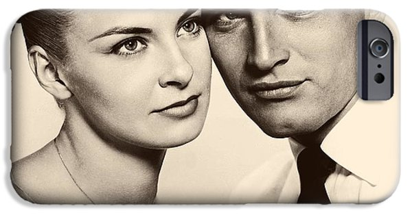 1950s Portraits iPhone Cases - Paul Newman and Joanne Woodward in the Long Hot Summer 1958 iPhone Case by 20th Century Fox