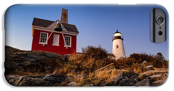 Pemaquid Lighthouse iPhone Cases - Pemaquid Sky iPhone Case by Robert Clifford