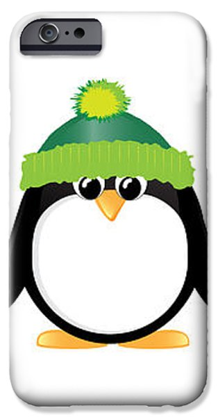 Penguins isolated iPhone Case by Jane Rix