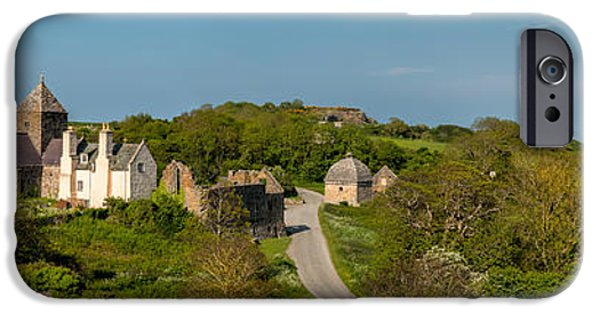 Cemetary iPhone Cases - Penmon Priory iPhone Case by Adrian Evans