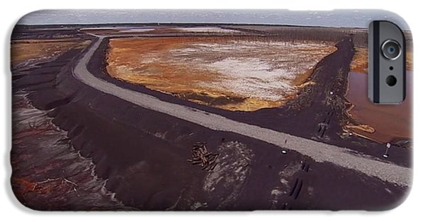 Politician iPhone Cases - Perfect poster of an UGLY polluted landscape of North America read Canada iPhone Case by Navin Joshi