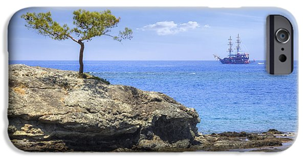 Pirate Ship iPhone Cases - Phaselis - Turkey iPhone Case by Joana Kruse