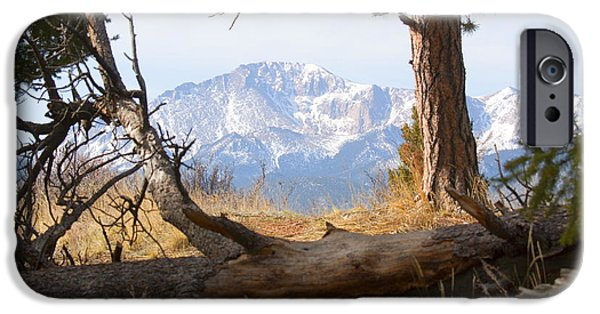 Springtime In The Park iPhone Cases - Pikes Peak and Trail to Bald Mountain iPhone Case by Steve Krull