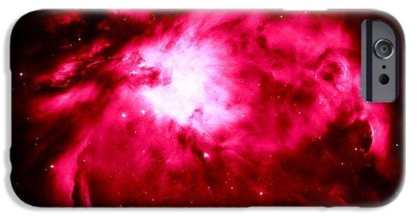 Stellar iPhone Cases - Pink Nebula iPhone Case by Johari Smith